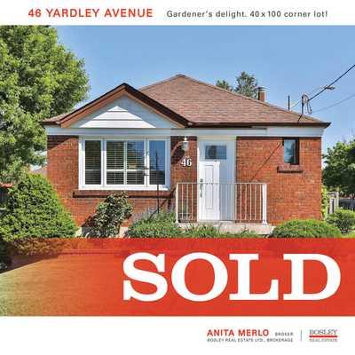 46 Yardley Ave  ,  sold, , Anita Merlo, Bosley Real Estate, Brokerage *