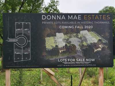 Lot 2 Peter Morse Way,  N5306069, Vaughan,  for sale, , Mary Najibzadeh, Royal LePage Your Community Realty, Brokerage*